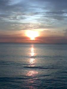 senggigi sunset view